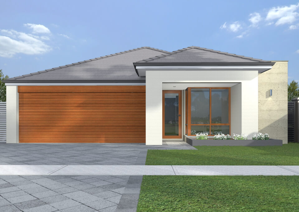 Narrow lot homes single storey home design for Narrow lot homes single storey