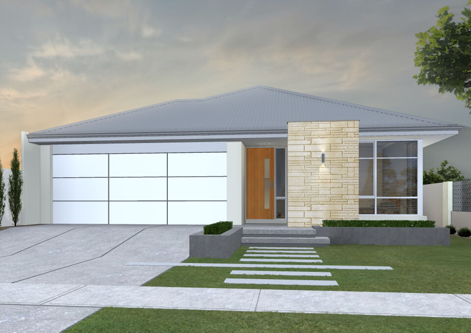 The Levanzo single storey home by mygen homes - home elevation