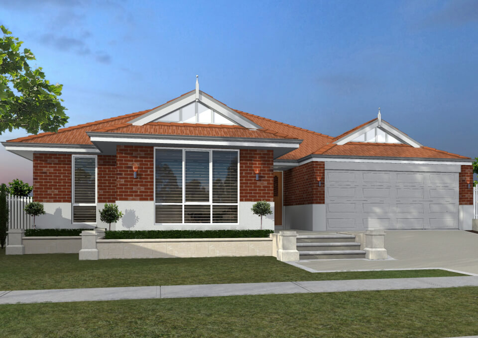 The Tremby-Red single storey home by mygen homes - home elevation